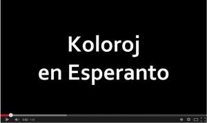 Koloroj en esperanto