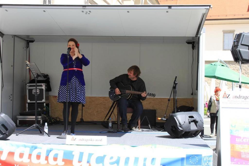 Pevka Maja Pihler Stermecki in Gregor Stermecki