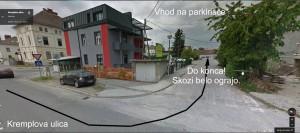 Na parkirišče iz Kremplove