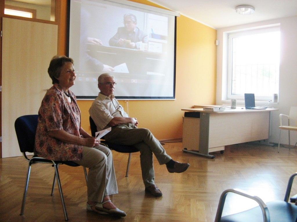 Razgovor z Zlatkom Tišljarom ob njegovi 70. obletnici je vodila Melita Cimerman, podpredsednica društva.