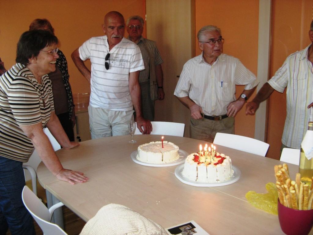 Drugi del ob njegovi 70. obletnici Zlatka Tišljara je potekal v prijetnem druženju.