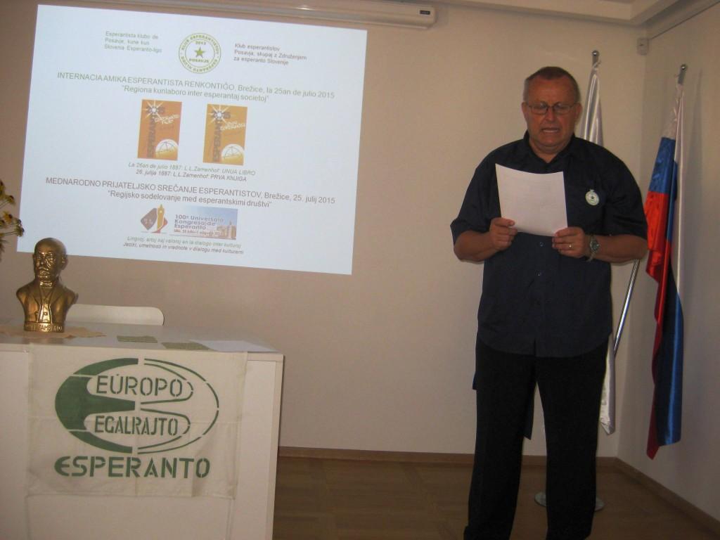 Srečanje je odprl Anton Mihelič, KEP Brežice