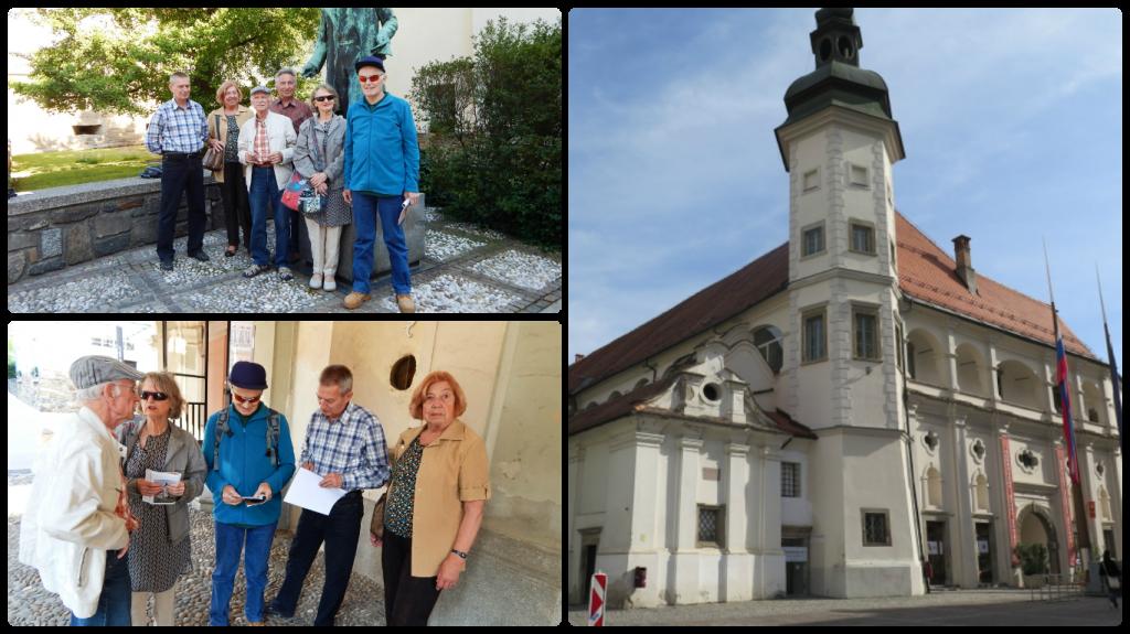 Zbrali smo se pri Jurčičevem spomeniku nakar smo poslušali Sandija, ki je na kratko opisal Pokrajinki muzej.