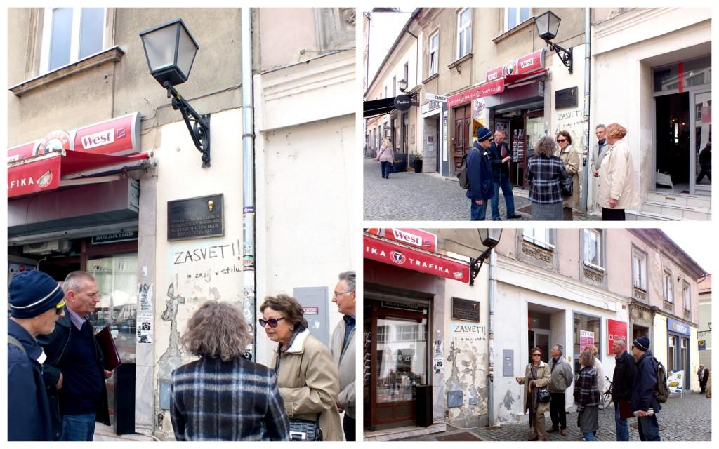 Gospa Melita Cimerman nam predstavlja osnovna dejstva o prvi žarnici v Mariboru (foto: Zdravko Kokanović)