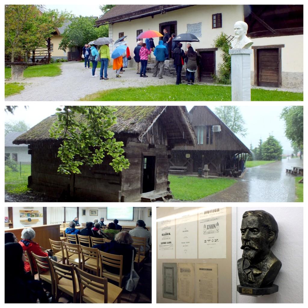 Po posvetu smo si prisotni ogledali rojstni hišo Josipa Jurčiča na Muljavi (foto: Zdravko Kokanović)